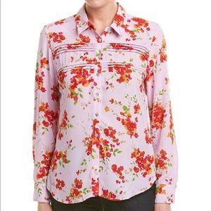 Nanette Lepore long sleeves floral shirt